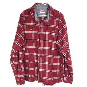 WRANGLER Plaid Flannel Shirt Lumber Jack Logger